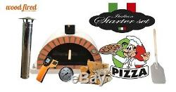 Brique Bois Extérieur Tiré Four À Pizza 100cm Paquet Gris Brique Orange Pro-italienne