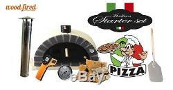 Brique Bois Extérieur Tiré Four À Pizza 100cm Paquet Sable Tamisé Gris Pro-italien