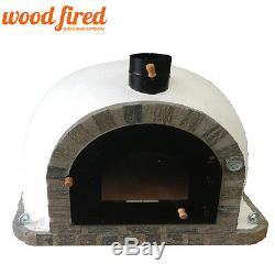 Brique Bois Extérieur Tiré Four À Pizza 100cm Pro Deluxe Arc Et Garniture En Pierre