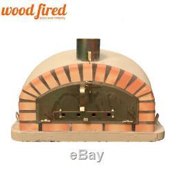 Brique Bois Extérieur Tiré Four À Pizza 100cm Sable Modèle Italien