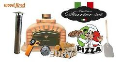 Brique Bois Extérieur Tiré Four À Pizza 100cm Sable Package Deal Modèle Exclusif