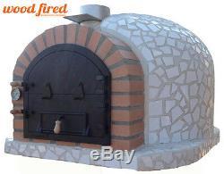 Brique Bois Extérieur Tiré Four À Pizza 100cm X 100cm Modèle Blanc Mosaïque