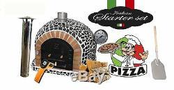 Brique Bois Extérieur Tiré Four À Pizza 100cm X 100cm Modèle Noir Mosaïque Et Emballage
