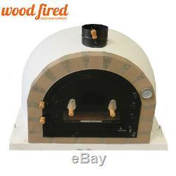 Brique Bois Extérieur Tiré Four À Pizza 100cm X 100cm Modèle Pro-deluxe