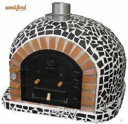 Brique Bois Extérieur Tiré Four À Pizza 100cm X 100cm Mosaïque Modèle Noir