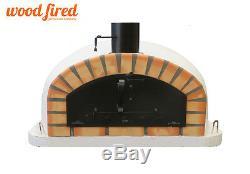 Brique Bois Extérieur Tiré Four À Pizza 100cm X 100cm Noir Italien Et Orange
