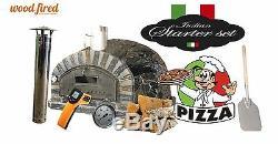 Brique Bois Extérieur Tiré Four À Pizza 100cm X 100cm Paquet Modèle Italien Rustique