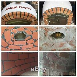Brique Bois Extérieur Tiré Four À Pizza 1100mm Entertainer Amigo Fours