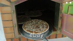 Brique Bois Extérieur Tiré Four À Pizza 110cm Blanc Modèle Deluxe (forfait)
