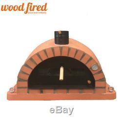 Brique Bois Extérieur Tiré Four À Pizza 120cm Brique En Terre Cuite Orange Pro-italienne