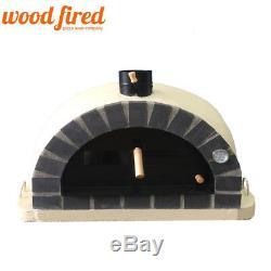 Brique Bois Extérieur Tiré Four À Pizza 90cm Sable Gris Brique Pro-italien