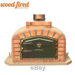 Brique Bois Extérieur Tiré Four À Pizza 90cm Sable Modèle Exclusif