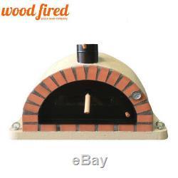 Brique Bois Extérieur Tiré Four À Pizza 90cm Sable Orange Brique Pro-italienne