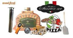 Brique Bois Extérieur Tiré Four À Pizza 90cm Terre Cuite Package Deal Modèle Exclusif