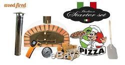 Brique Bois Extérieur Tiré Four À Pizza 90cm X 90cm Modèle Italien Et Forfait