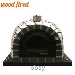 Brique En Bois Extérieur Cuit Four À Pizza 100cm Pro Céramique Blanche De Luxe + Porte En Fonte