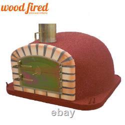 Brique En Bois Extérieur Cuit Four À Pizza 80cm X80cm En Terre Cuite Maxi Deluxe