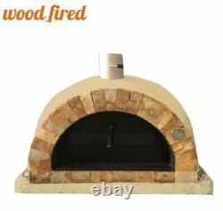 Brique Extérieur Bois Cuit Pizza Four Sable 100cm Pro Face De Roche Italienne
