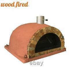 Brique Extérieur Bois Cuit Pizza Four Terracotta 100cm Pro Face De Roche Italienne