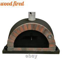 Brique Extérieur Feu De Bois Pizza Four 100cm Noir Pro-italien Orange Paquet Brique