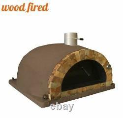 Brique Extérieur Feu De Bois Pizza Four Brun 100cm Pro Italien Rock Face Package