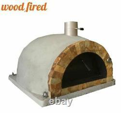 Brique Extérieur Feu De Bois Pizza Four Gris 100cm Pro Italian Rock Face Package