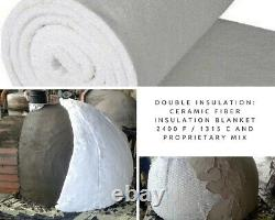 Brique Feu De Bois Extérieur Pizza Four 100cm Pro Deluxe Rock Face Fonte Porte