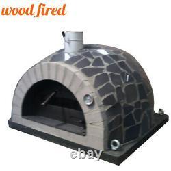 Brique Feu De Bois Extérieur Pizza Four 100cm Pro Italien Céramique Noire