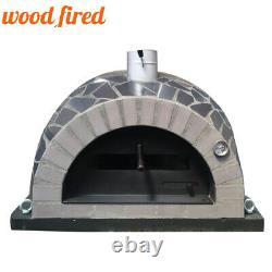 Brique Feu De Bois Extérieur Pizza Four 100cm Pro Italien Paquet En Céramique Noire