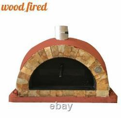 Brique Feu De Bois Extérieur Pizza Four Brique Rouge 100cm Pro Face De Roche Italienne
