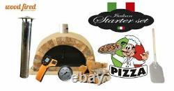 Brique Feu De Bois Extérieur Pizza Four Sable 100cm Pro Italian Rock Face Package