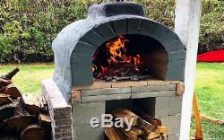 Brique Four Plans Bricolage Cuisine De Plein Air Pizza Patio Party Côtes Arrière Woodfire