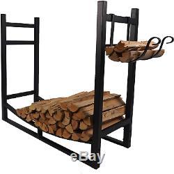 Cheminée Log Rack Extérieur Intérieur Avec Embrasement Porte-bois De Chauffe Support De Stockage