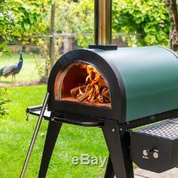 Cove Green Machine Base De Pierre Wood Fired Extérieur Four À Pizza Et Barbecue, Fours
