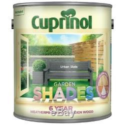 Cuprinol Shades Jardin, Slate Urban, Énorme 5 L Peinture De Clôture, Rapide Et Gratuit 24 Heures