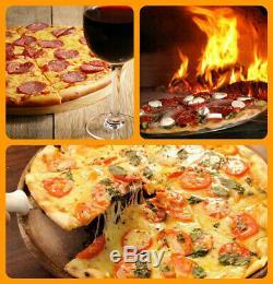 Extérieur Brique Bois Fired Pizza Oven Cheminée, Pizza Peel, Kit D'entretien