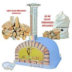 Extérieur Brique Bois Fired Pizza Oven Paquet Italien Bois