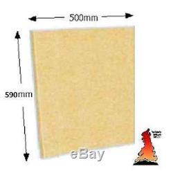 Fireboard Firebrick Brique Feu Plaine Conseil Vermiculite Grande 500mm X 590mm