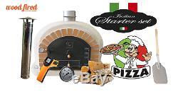 Four En Briques Bois Extérieur Feu Pizza 100cm X 100cm Supérieure Beige
