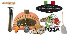 Four En Briques Bois Extérieur Tiré Pizza 100cm Teracotta Modèle Italien (paquet)