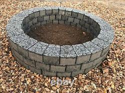 Foyer Gris Foncé Dalle De Granit Cheminée Bricolage Jardin Patio Briques Terrasse