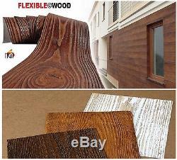 Glissades Bois Artificiel Revêtement Mural Carrelage Flexible Non Brique Extérieur Et Intérieur