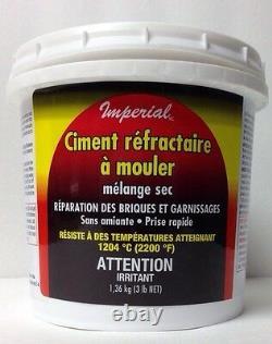 Le Feu Réfractaire Castable D'argile De Ciment Placent La Réparation De Chiminea De Poêle De Mortier De Brique