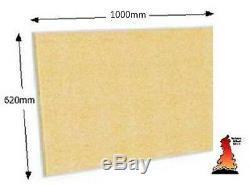 Lot De 2 Briques De Briques Réfractaires Feu Conseil Vermiculite Boards Grand 1000 X 620 X 25 MM De