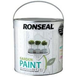 Nouvelle Peinture Extérieure Ronseal Gris De Jardin De 2,5 L En Gris Ardoise Pour Pierre De Bois Et Métal