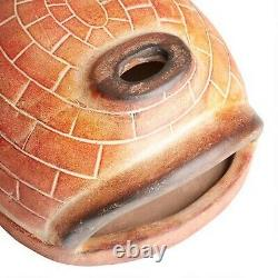 Outdoor Pizza Oven Oval Red Brick Wood Fired Terracotta For Home Garden Nouveau