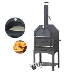 Pizza Au Four À Bois Fired Alfa Uuni Extérieur 3 Fours Porte Countertop Nouvelle Brique De Base