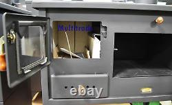 Poêle De Cuisson À Feu De Bois Avec Poêle À Combustible Solide De Pointe En Fonte 10kw Prity Oven