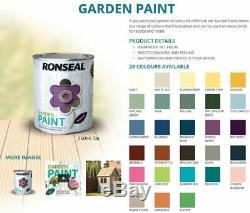 Ronseal 250ml Jardin Extérieur Peinture Extérieure En Bois, Métal, Brique, Shed Et Clôture