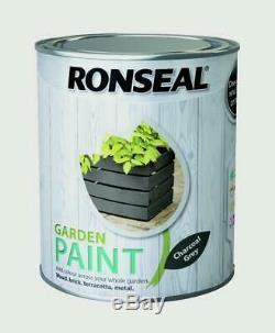 Ronseal Extérieur Gris Anthracite Jardin Peinture 750ml Pour Clôture En Bois / Brique / Métal